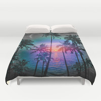 Dream of Paradise (Palm Tree Paradise) Duvet Cover by soaring anchor designs ⚓ | Society6