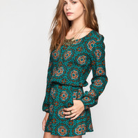 PATRONS OF PEACE Tile Womens Romper 245657246 | Rompers & Jumpers
