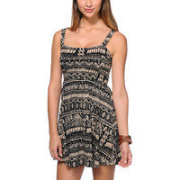 Element Girls Beaumont Black Tribal Print Dress at Zumiez : PDP