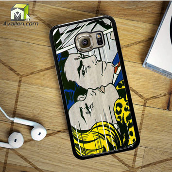 Roy Lichtenstein - comics print Samsung Galaxy S6 case by Avallen