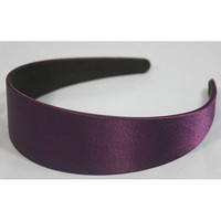 "3 pcs of 40mm (1 1/2"") Plastic Headbands Purple Satin Covered - 3pcs Hair Accessories Wholesale Lots Annielov"