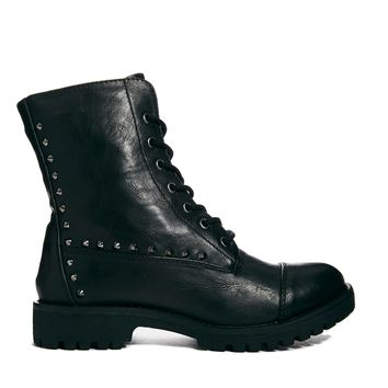 London Rebel Stomp Lace Up Boot