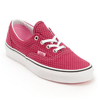 Vans Era Beet Red & Begonia Pink Polka Dot Shoe