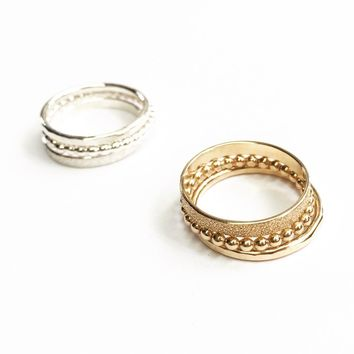 Gwynnie Bee exclusive 3 ring stack - Silver