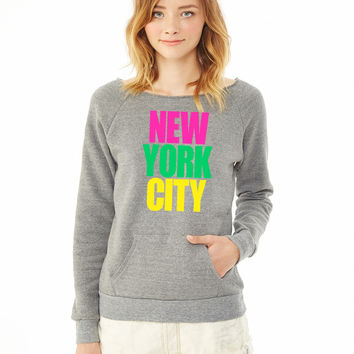 New York City colors ladies sweatshirt
