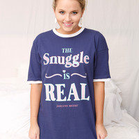 Jadelynn Brooke: The Snuggle is Real Sleep Shirt {Navy}