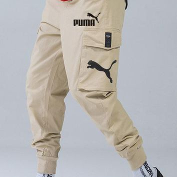 PUMA autumn and winter new men's loose trend beam pants pants overalls Khaki