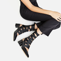 LACE-UP HIGH-HEEL SLINGBACKS DETAILS