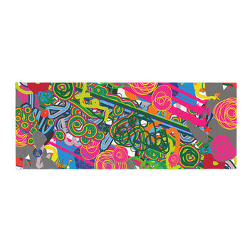 "Frederic Levy-Hadida ""Psychedelic Garden"" Bed Runner"