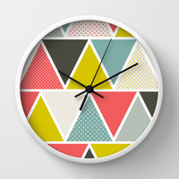 Triangulum Wall Clock by Heather Dutton