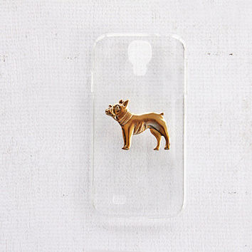 Transparent Galaxy S4 Cases Covers Skins BUmpers French Bulldog Phone Case Samsung S4 Cell Phone Skins Bumpers Trendy Styles Puppy Dog Lover