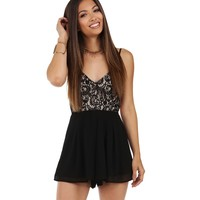 Black Starry Night Romper