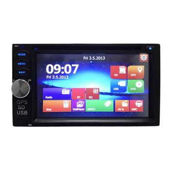 Newest 2 Din 7 Inch Universal Car Radio Navigation  Car DVD Player Stereo Video GPS Built-in Bluetooth Hands-Free With Remote