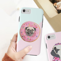 🐕🍩 25% Off Everything With ⭐Code: ART25OFF 💳Shop: www.society6.com/lostanaw/s?q=popular+cases #smartphonecase #puglover #pugs #donut #cushioncovers #paillette | accessories, iphone cases y phone cases