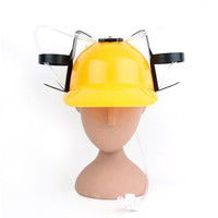 Beer Drinking Helmet (U Pick Color) Hat Game Drink Fun Party Baseball Dispenser  YELLOW