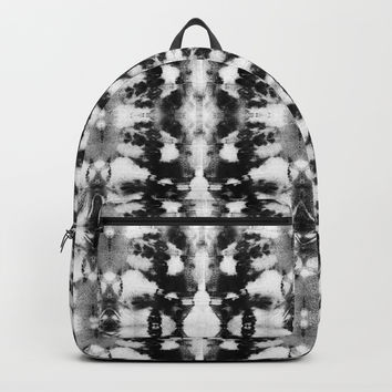 Tie-Dye Blacks & Whites Backpack by ninamay