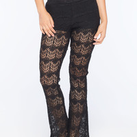 FULL TILT Crochet Womens Flare Pants | Gypset