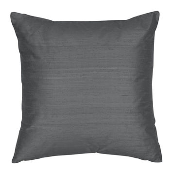 Throw Pillow Cover - Silk Shantung Decorative Pillow - 16,18,20,22,24 inch  Pillow  Cushion - Silk Fabric: Twilight Blue