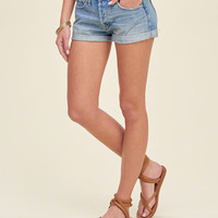 Hollister Low Rise Washed Denim Boyfriend Shorts