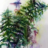 Forest Fern Original Watercolor and Ink » Craftori