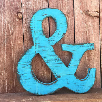 Ampersand - Hand cut -Wall Art - Wall Decor - Rustic