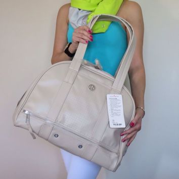 NWT Lululemon Om For All Gym Yoga Bag Cashew