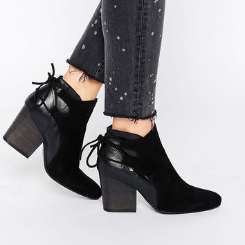 Hudson London Black Suede Minka Ankle Boot