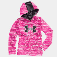 Girls' UA Big Logo Printed Armour Fleece Storm Hoodie | 1232212 | Under Armour US