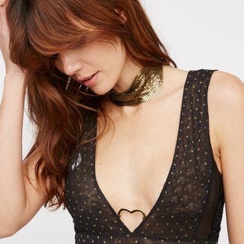 Free People Breaking Hearts Bodysuit