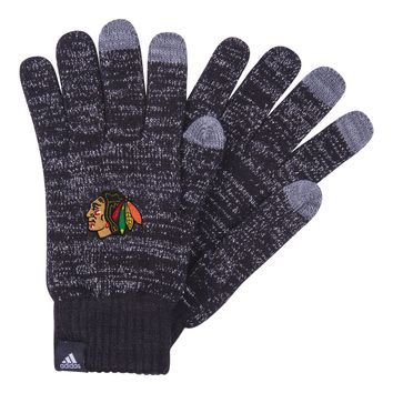 Women's Chicago Blackhawks Authentic Tech Gloves By Adidas