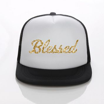 DongKing New Cotton Mesh Blessed Printed Baseball Hat Snapback Adjuatable