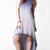 SiHo Hi-Lo Emma Dress in Slate Blue Vintage Wash