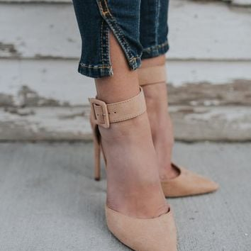 Uptown Faux Suede Pointed Heel