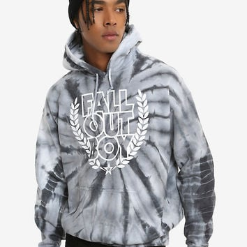 Fall Out Boy Laurel Wreath Logo Tie Dye Hoodie