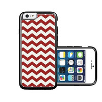 RCGrafix Brand Bright Red Thick Chevron iPhone 6 Case - Fits NEW Apple iPhone 6