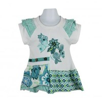 Naartjie Kids | Baby Girl Clothes | Naartjie Baby Girl Clothes | Embroidered Applique Print Ruffled Tunic