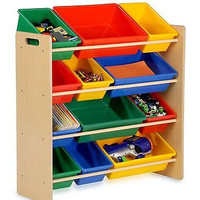 Honey-Can-Do Kid Toy Bin Room Organizer Storage Playroom Children Books Plastic