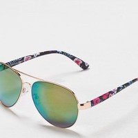 AEO Women's Floral Aviator Sunglasses (Multi)