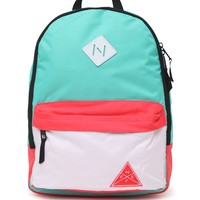 Neff Colorblock Scholar School Backpack - Womens Backpack - Multi - One