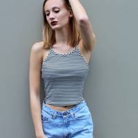 """Jailbird"" Striped Crop"