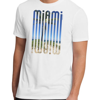 Miami Beach View Mirage Men's Sublimate Tee