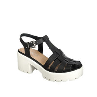 Retro Vegan Leather Sandals