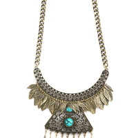 DROP FEATHER BOHO NECKLACE