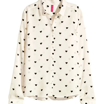 Patterned Blouse - from H&M