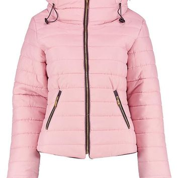Quilted Jacket   Boohoo
