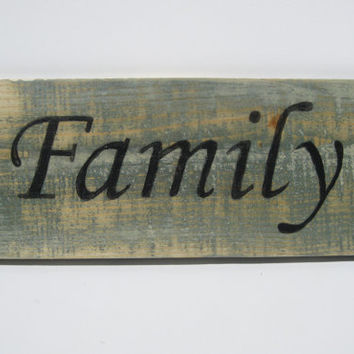 Family Wooden Home Decor Sign