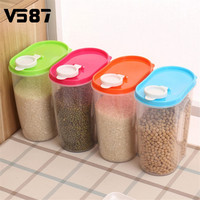 Rice Container Sealed Box 2.9L 2L 1.25L Kitchen Storage Box Jar Dried Food Cereal Flour Pasta Food Storage Dispenser