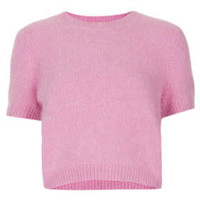 Knitted Fluffy Jumper - Pink