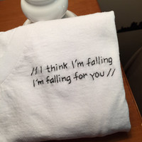 The 1975 'Falling For You' Inspired Embroidered T-Shirt