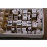 Classiky Porcelain Stamp , rubber stamp - from , post card , thank you , to , 封,秘,回覧,ありがとう